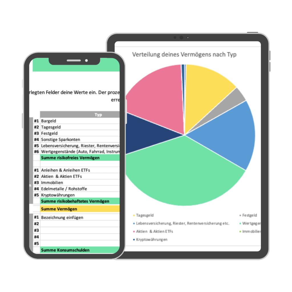 Nettovermögen Rechner Excel Vorlage